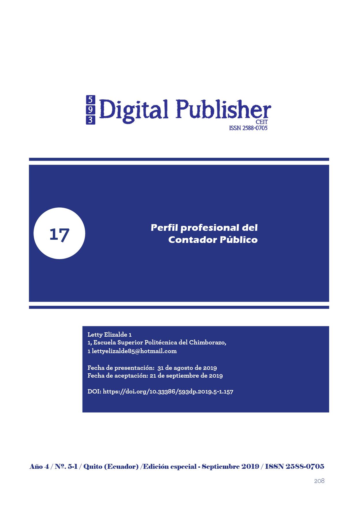 Perfil Profesional Del Contador Publico 593 Digital Publisher Ceit